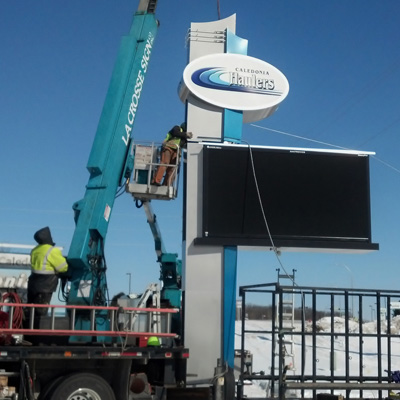 In 2015, Caledonia Installed a New Sign to Display Community Events