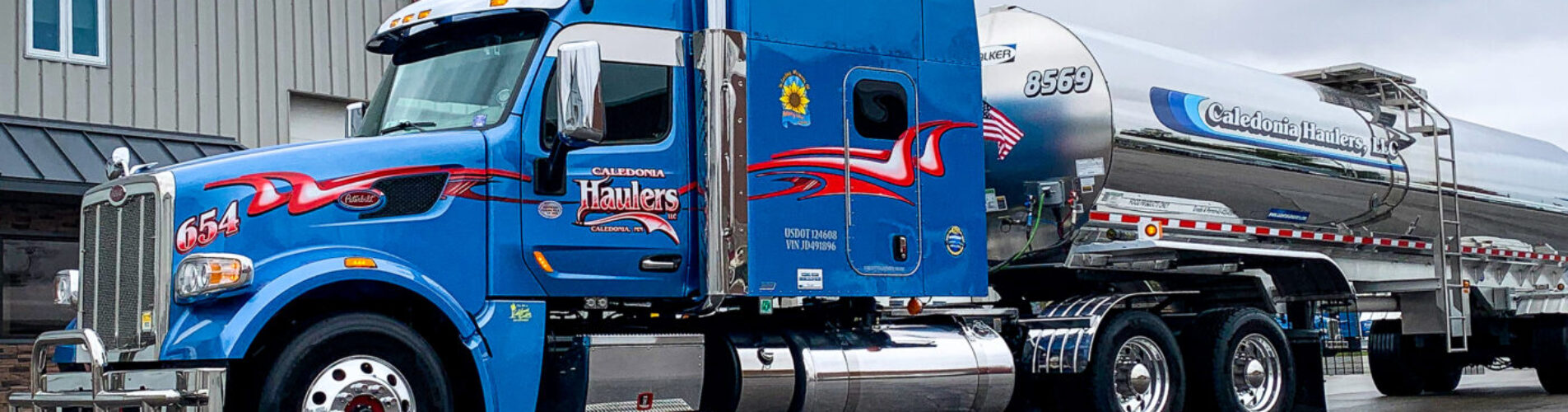 Caledonia Haulers Driver Transporting Food Products